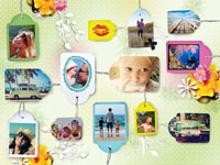 Photo collage Labels