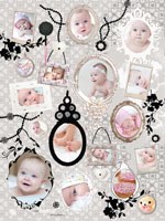 Photo collage Baroque Frames