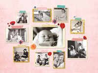 Photo collage Masking tape